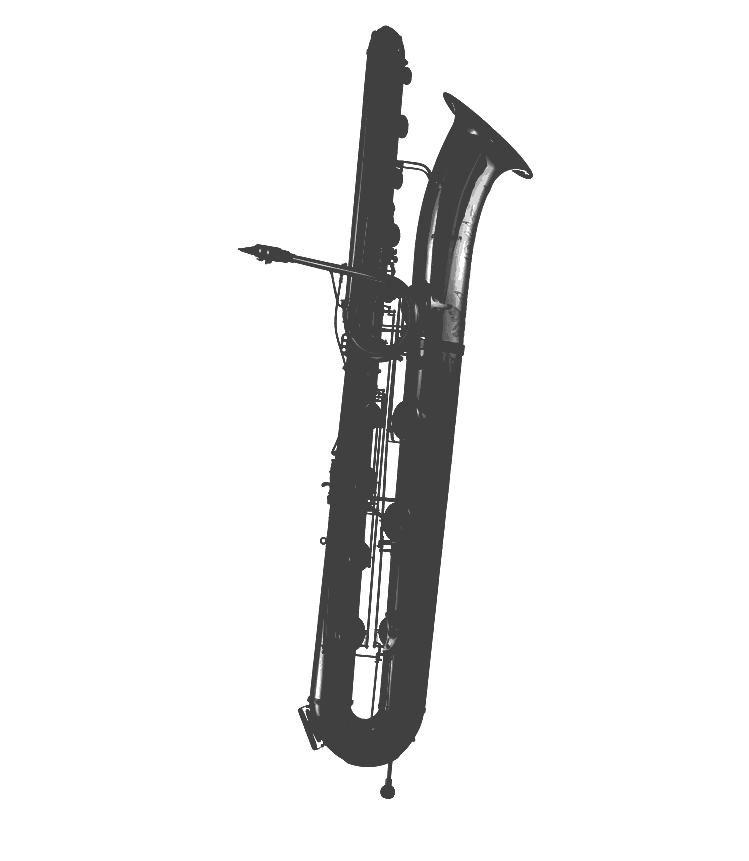 Eb-Kontrabass-Saxophon bis tief A